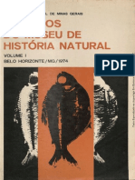 arquivo do museu de historia natural da UFMG - Volume I