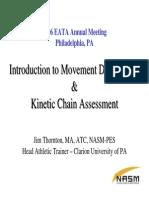 Kinetic Chain Assessment Kinetic Chain Assessment