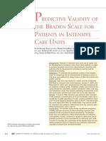 Validity of the Braden Scale