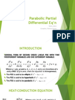 Parabolic Partial Differential Eq'n