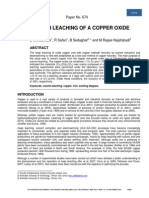 Column Leaching of a Copper Oxide Ore