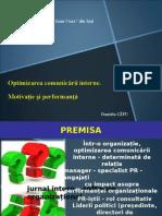 Optimizarea Comunicarii Interne. Motivatie Si Performanta
