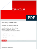Best Practice for Minimizing Oracle EBS R12.2.n Upgrade Downtime