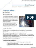 Descripción General Postulacion Ayudas Tecnicas - Áreas Técnicas - Senadis
