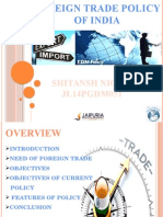 Foreign Trade Policy of India (Need, Objectives, Features of Ftp 2009-2014)