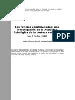 Pavlov - Traduccion de Reflejos Condicionados