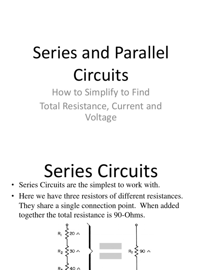 Pictures Of Series And Parallel Circuit