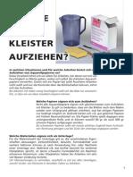 003 Papiere Kleistern