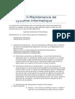 Chap II Maintenance de Système
