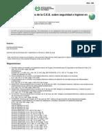 NTP 144 Disposiciones de La C.E.E. Sobre Seguridad e Higiene en El Trabajo (PDF, 174 Kbytes)