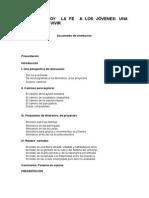 PROPONER HOY LA FE A LOS JÓVENES (Proyecto Marco)
