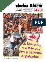 Semanario Revolución Obrera Edición No. 423