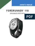Forerunner 110 Manual