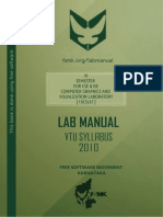 CG lab manual for 6th sem cse vtu