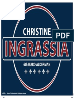 Christine Ingrassia Yard Sign