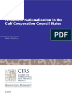 Workforce Nationalization in the  Gulf Cooperation Council States