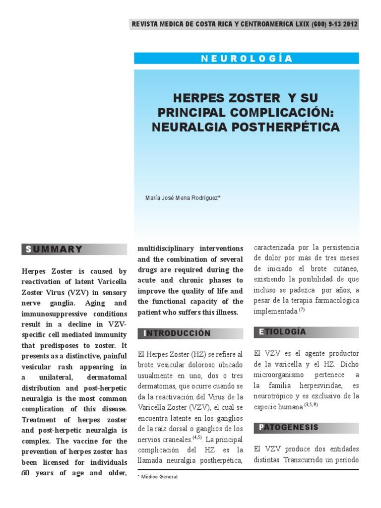 Herpes Zozter - Dolor - Droga antiviral