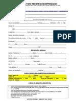 Ficha Registro de Empregados