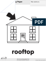 Rooftop Coloring Page