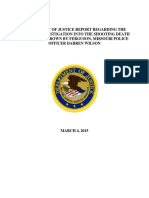 DOJ Report on Shooting of Michael Brown