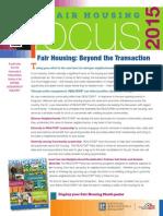 2015 Fair Housing FOCUS