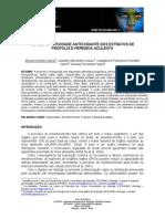 Estudo Da Atividade Antioxidante Da Própolis