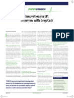 Innovations in EP - Interview with Greg Cash
