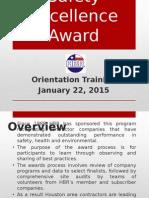 2015 Safety Award Orientation