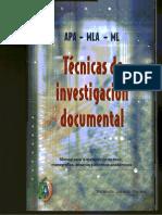Tecnicas de Investigacion Documental Yolanda Jurado