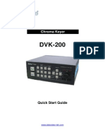 Datavideo DVK 200 Instruction Manual