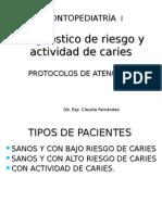 Diagnostico de Riesgo y Actividad de Caries by n