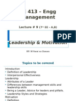 Engineering Management - Lecture -9