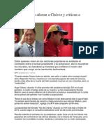 En Los Barrios Añoran a Chávez y Critican a Maduro
