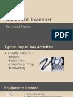 forensics honors doc examiner erin mayra