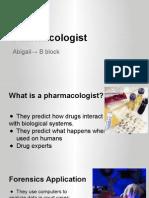 pharmacologist forensics honor abigail r