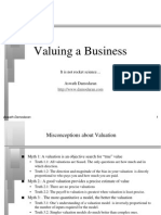Valuing a Business - Aswath Damodaran (Small Tutorial)