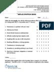 RSI - Reflux Symptom Index