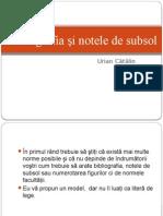Bibliografia Și Notele de Subsol