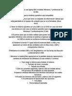 Formateada e Instalacion de Windows 7 Professional