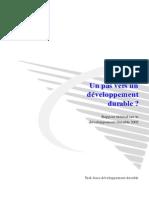 Un Pas Vers Un Developpement Durable