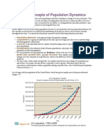4.1 Basic Concepts of Population Dynamics.
