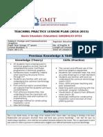 5th year dcg lesson plan 4tp 2014-15