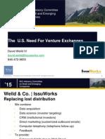David Weild Presentation at SEC 3.4.15