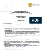 Convocatoria XII Olimpiada Internacional Logica 2015
