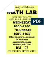 UD Georgetown Math Lab Flyer