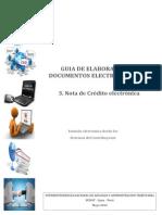 GUIA DE ELABORACION DE DOCUMENTOS ELECTRONICOS XML - Nota de Crédito electrónica