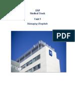 ESP Unit 5 Managing Hospitals