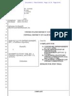 Harold Lloyd Ent. v. Moment Factory - Safety Last Harold Lloyd copyright complaint.pdf