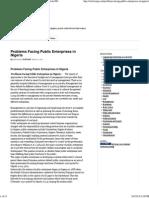 Problems Facing Public Enterprises in Nigeria - ArticlesNG