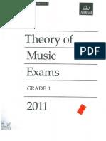 Paper- Grade 1 - 2011